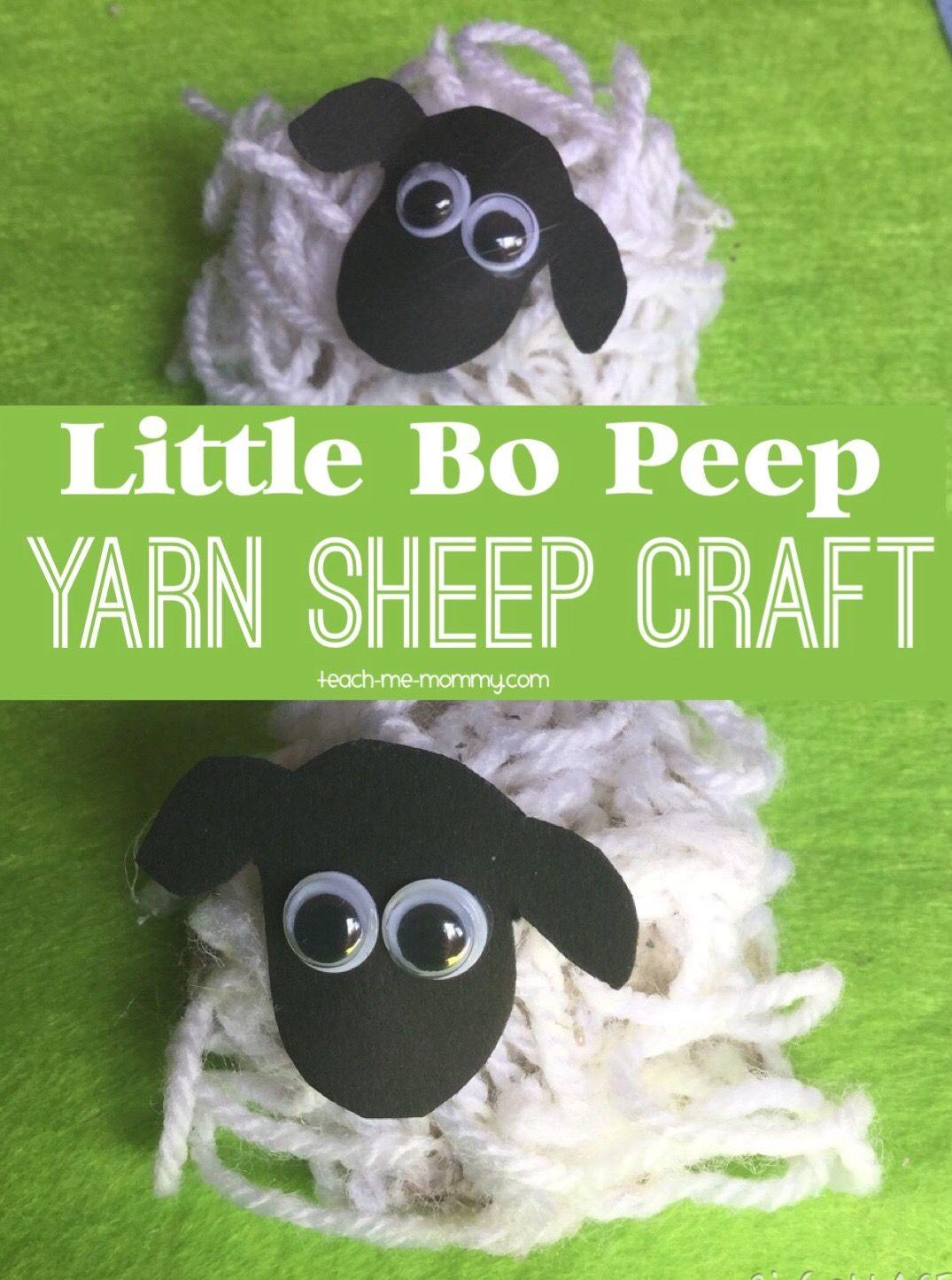 Little Bo Peep Sheep Craft   Sheep crafts, Yarns and Craft