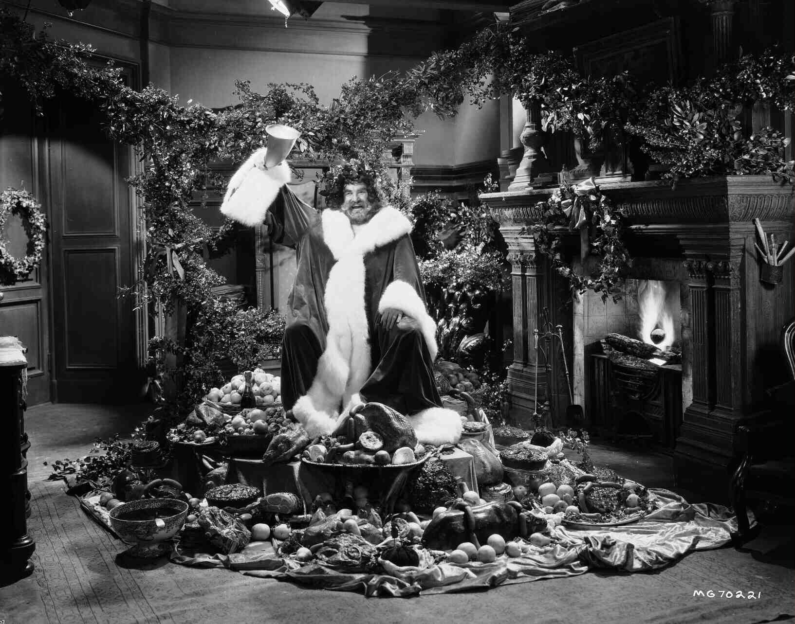 """Lionel Braham as the Spirit of Christmas Present in """"A Christmas Carol"""" (1938) 