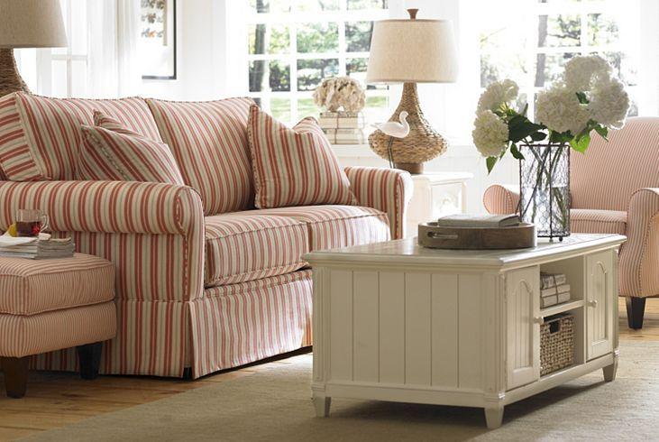Cottage Stripe, Living Rooms | Havertys Furniture