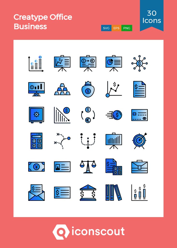 Download Download Creatype Office Business Icon pack - Available in ...
