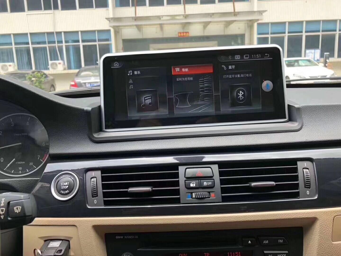 Android car dvd player Navigation Radio for BMW E90 Email