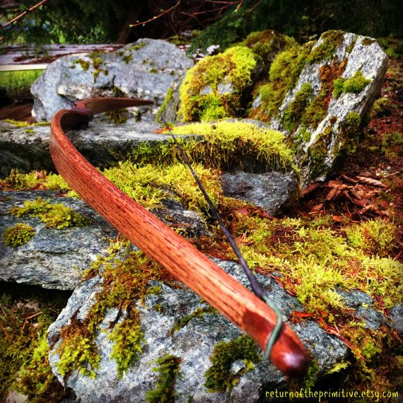 Traditional Wooden Longbow Made With Oak by ReturnOfThePrimitive