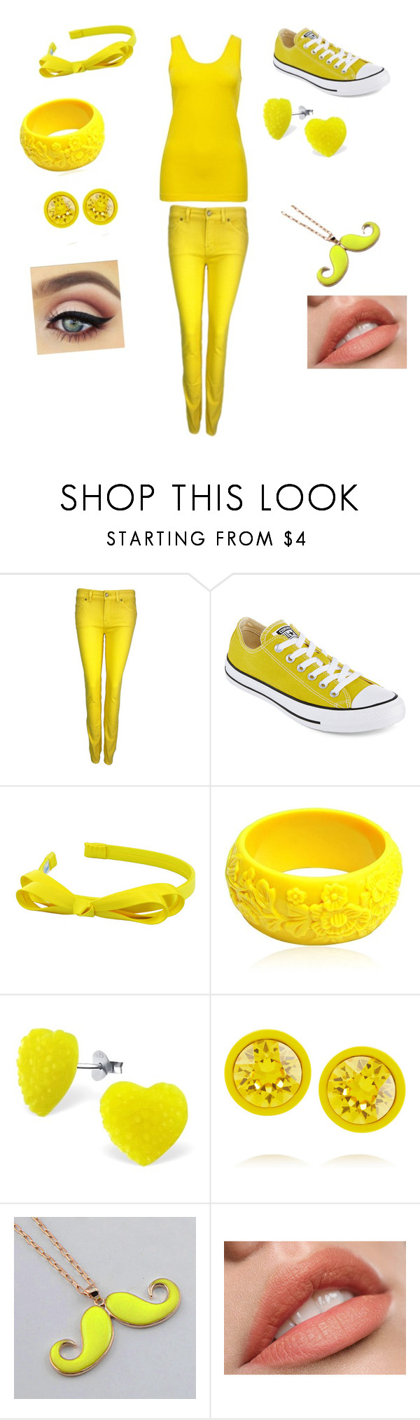 """princess belle"" by vyesica-yv on Polyvore featuring 7 For All Mankind, Converse, L. Erickson, Mariah Rovery and Givenchy"