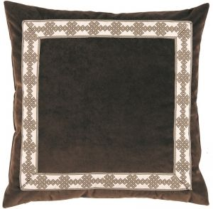 #02 Cafe Velvet with Amalfi Natural Tape Pillow