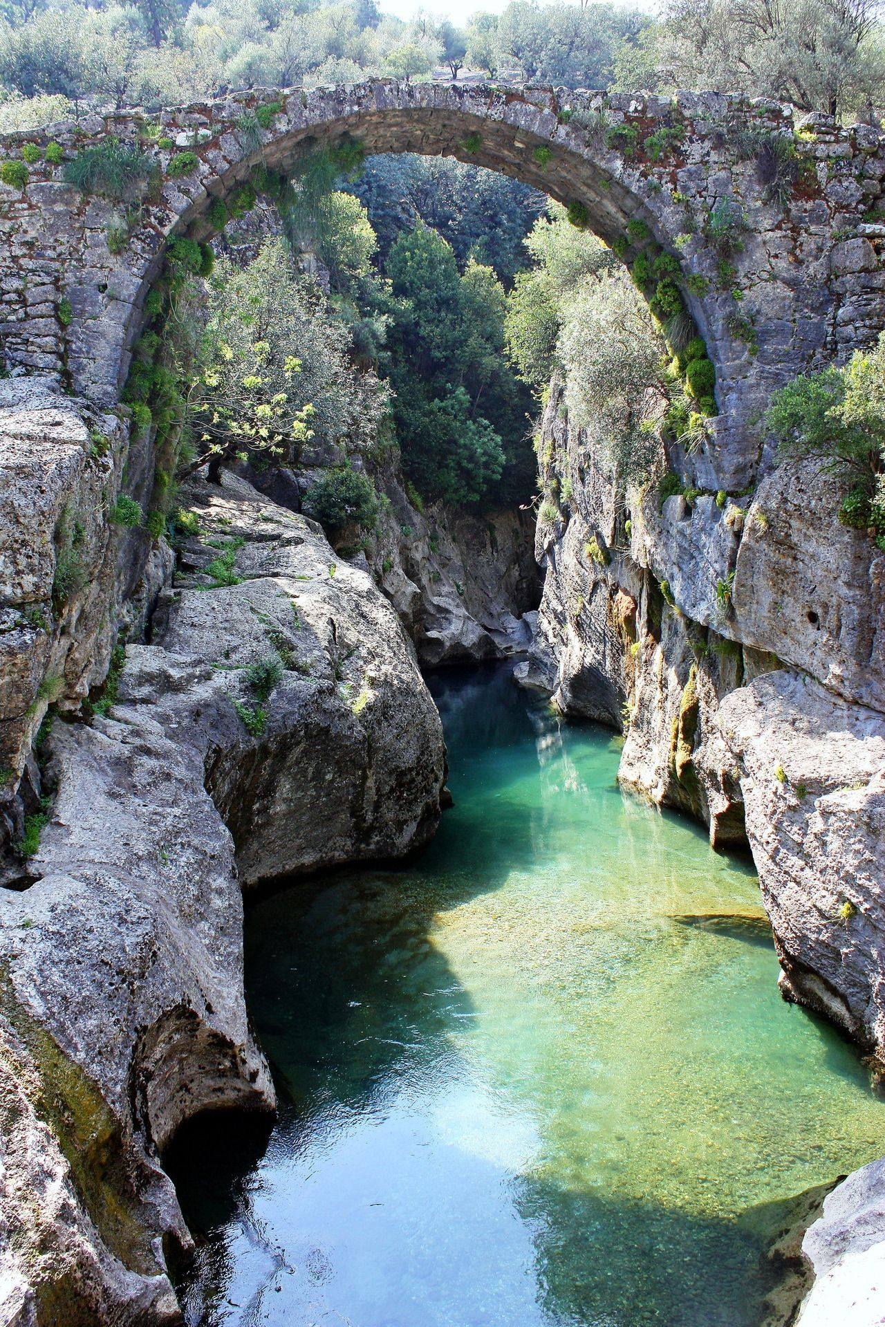 The Roman Bridge At K Pr Ay River Turkey (By