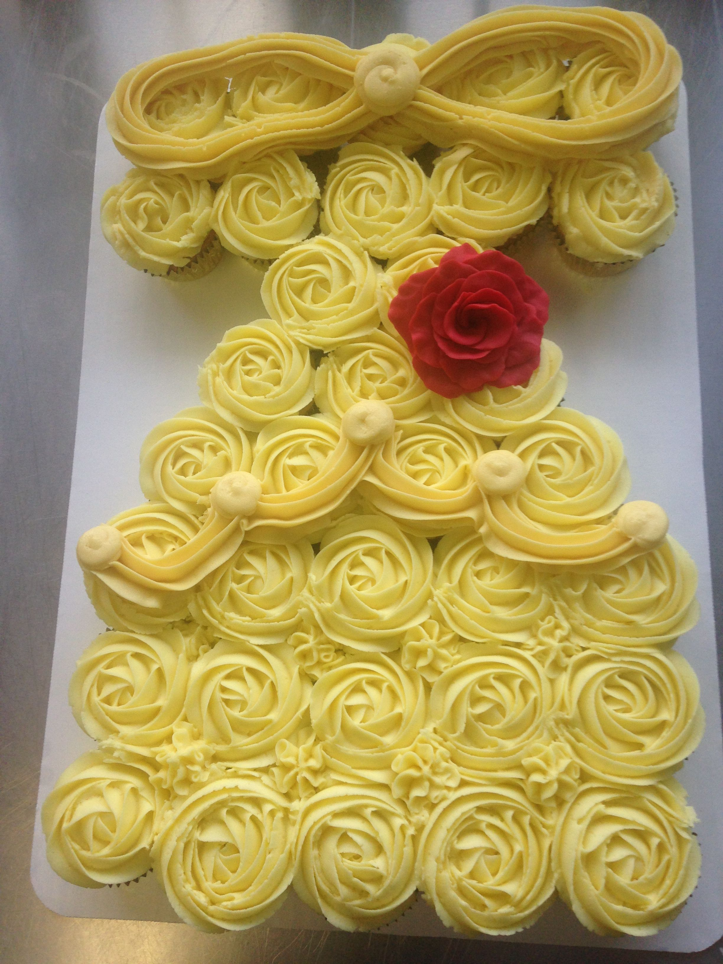 Beauty and the beast Belle dress Cupcakes My Cakes Pinterest