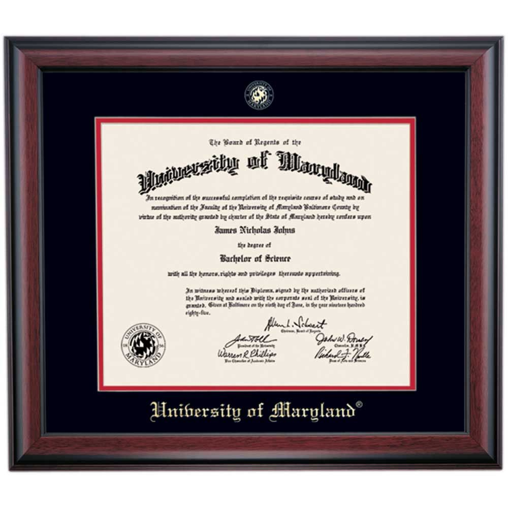 Maryland School Color Traditional Diploma Frame | Diploma Frames ...