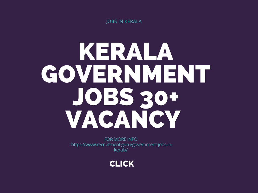 Government Jobs In Kerala Latest Released Jobs In Kerala