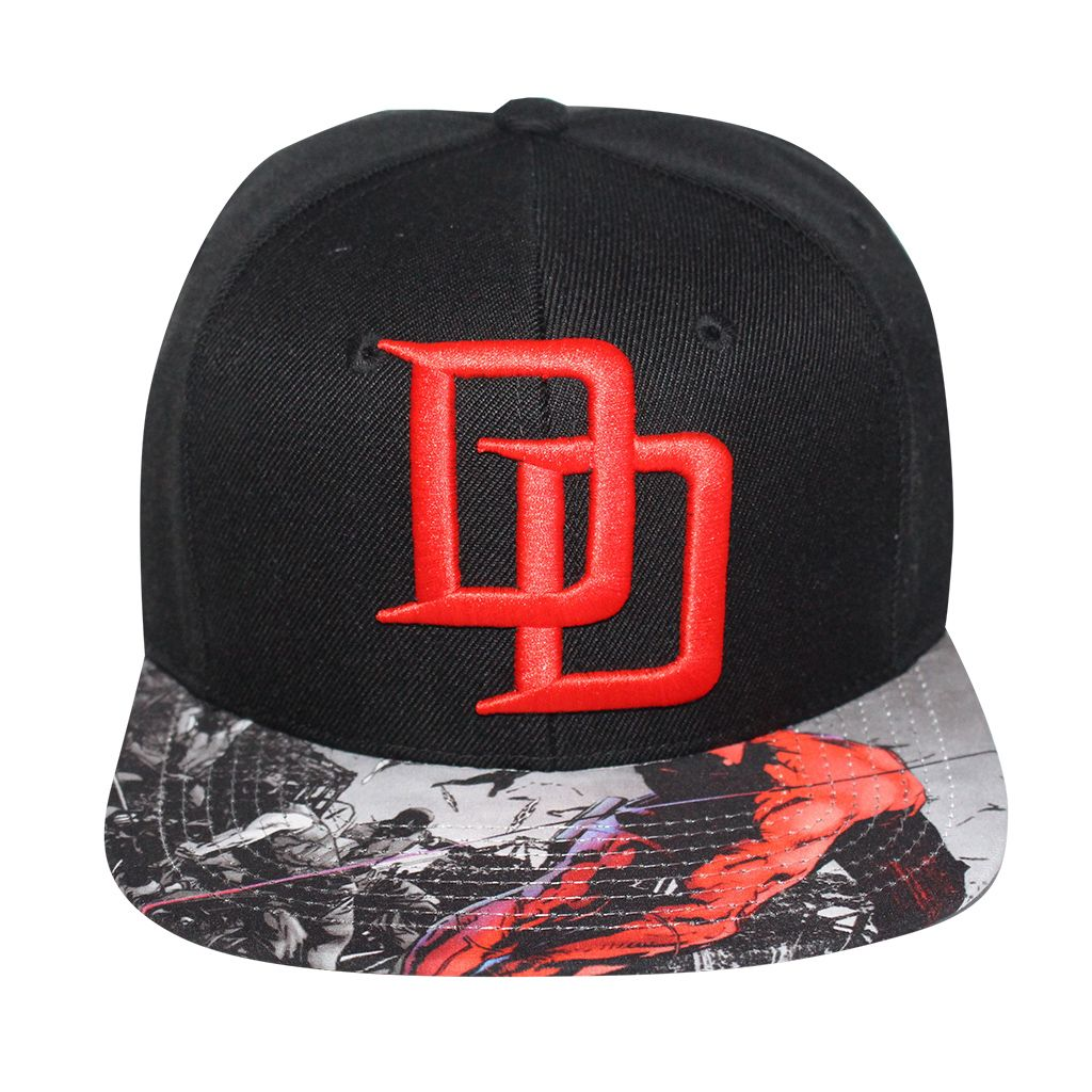 db002ed9 Grab this Marvel Comics Daredevil Sublimated Brim Logo Snapback from  Bioworld. Go get it now