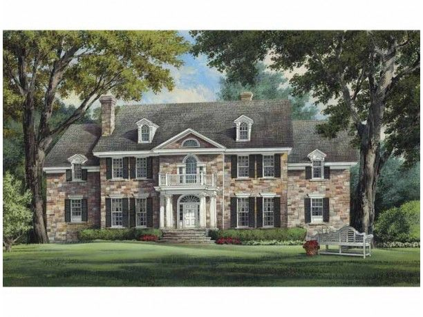 Colonial Style House Plan 4 Beds 5 5 Baths 5380 Sq Ft Plan 137 357 Colonial House Plans Colonial Style Homes Colonial House