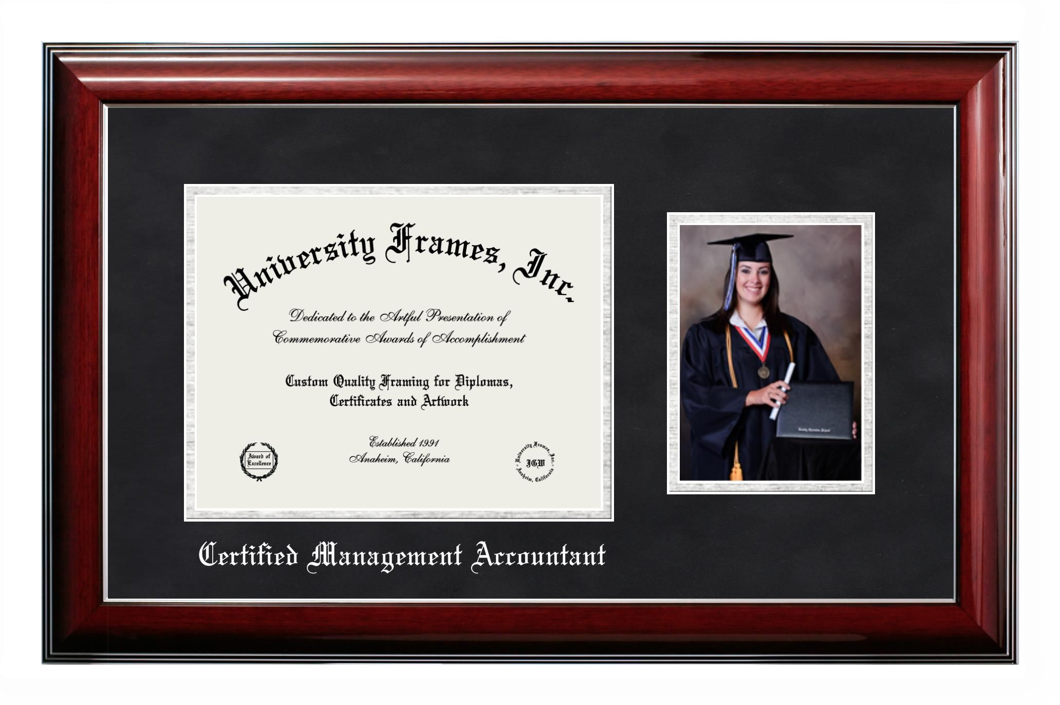 Certified Management Accountant Diploma With 5 X 7 Portrait Frame Diploma Frame Chicago School Frame