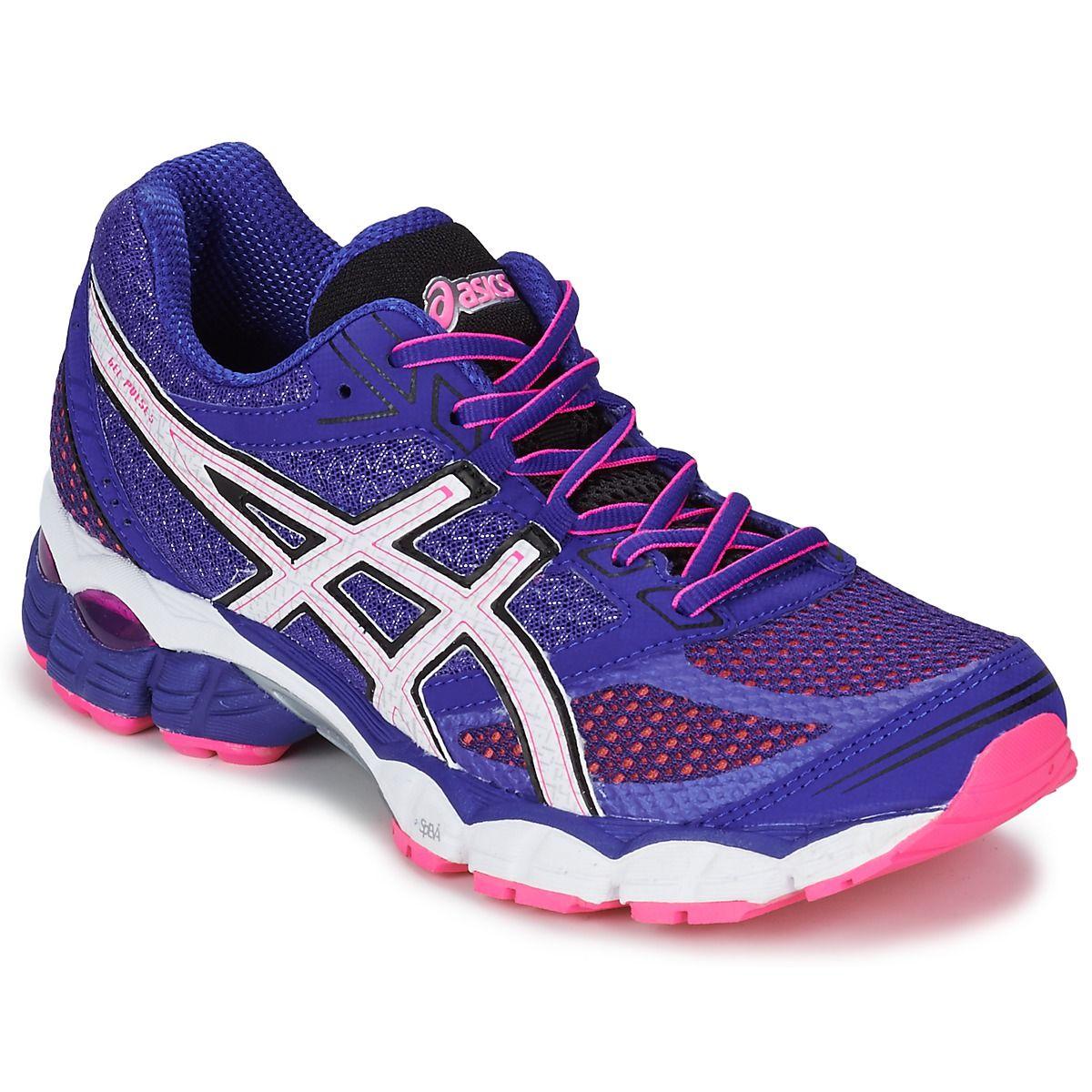 Chaussures-de-running Asics GEL-PULSE 5 Violet / Blanc / Rose