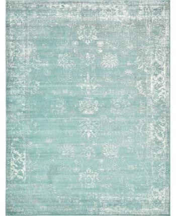 Bridgeport Home Basha Bas1 Turquoise 9 X 12 Area Rug Reviews