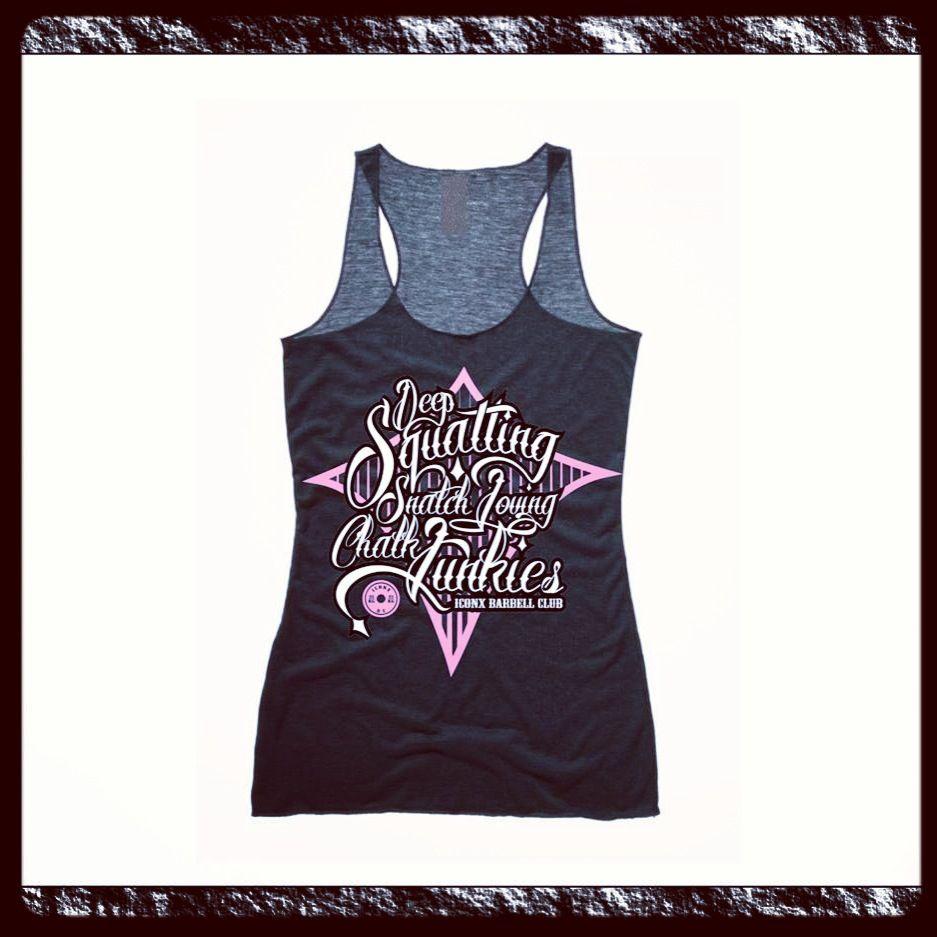 The new chalk junkies chicks vest #fit #crossfit