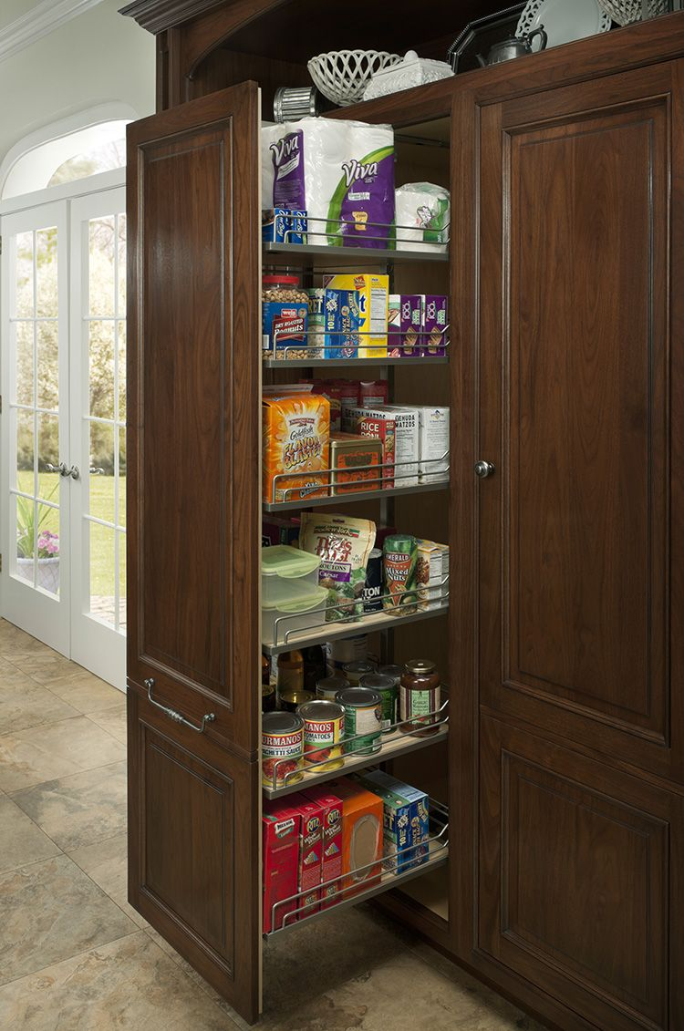 Tall pull out pantry by WoodMode Tall pull out
