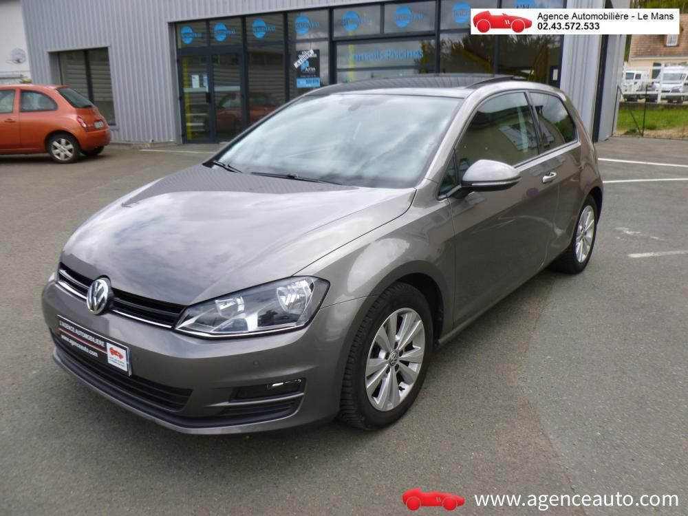 D couvrez la voiture volkswagen golf 1 4 tsi 140 act bluemotion technology confortline dsg7 - Garage le mans voiture occasion ...