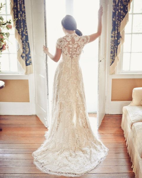 The lacework on this dress...breathtaking