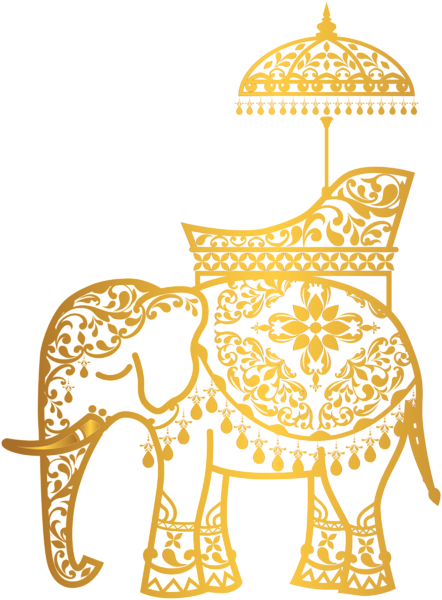 Thailand Elephant Gold Material Png Transparent Clipart Image And Psd File For Free Download Thailand Elephants Elephant Logo Thai Art