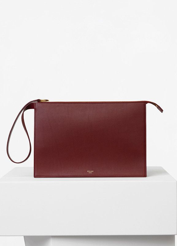 5f2757ca735a Ring Clutch with Dragonne in Light Burgundy Bicolour Smooth Calfskin - Céline  Celine Clutch