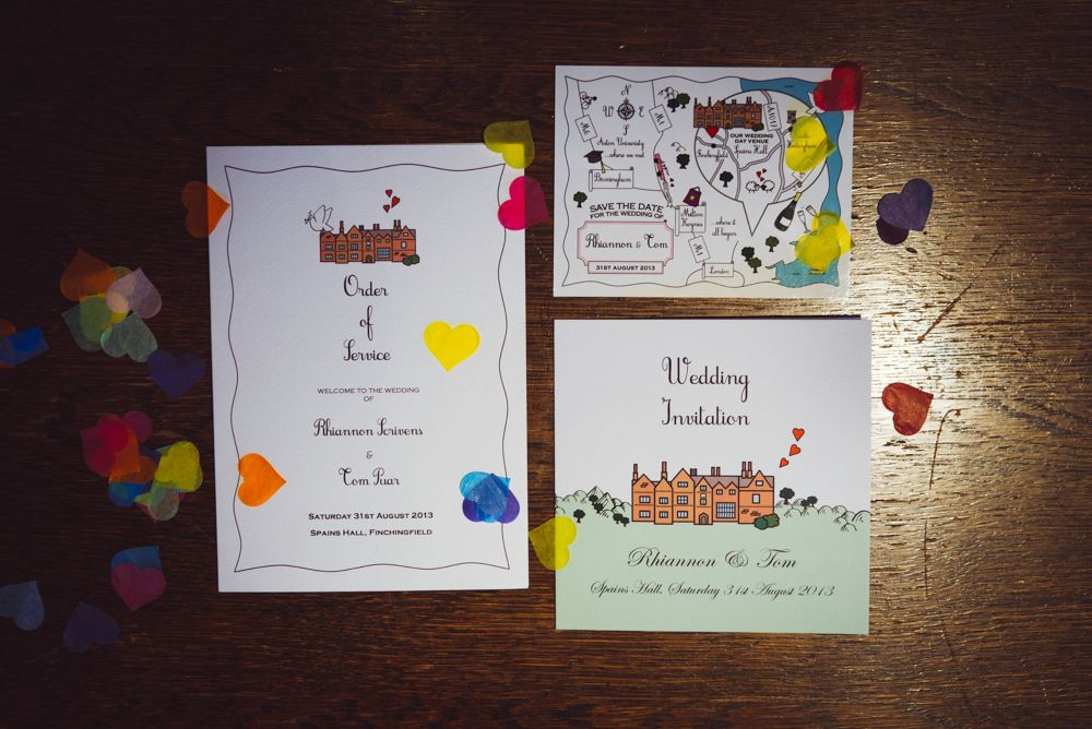 Wedding stationery themed around the architecture of the venue On ...
