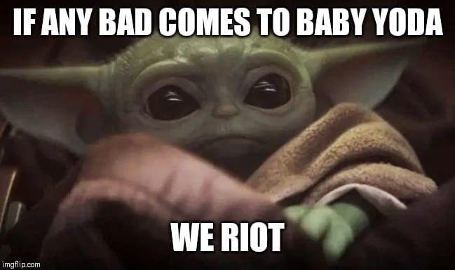 Babyoda Themandalorian Yoda Meme Star Wars Jokes Star Wars Humor