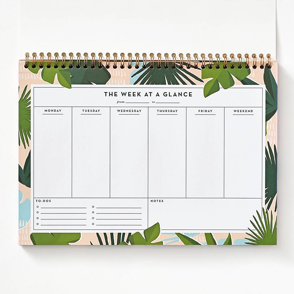 Paradise Palms Desk Weekly Planner Paper Source Weekly Desk Planner Printable Day Planner Weekly Planner Printable Templates