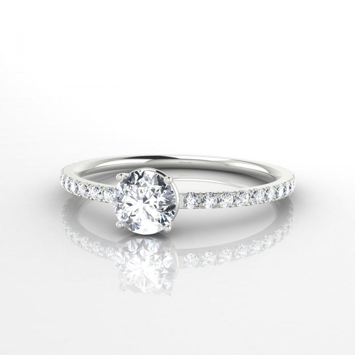 b5a1d8c66fc Aliénor Bague Diamant en Or blanc 18k