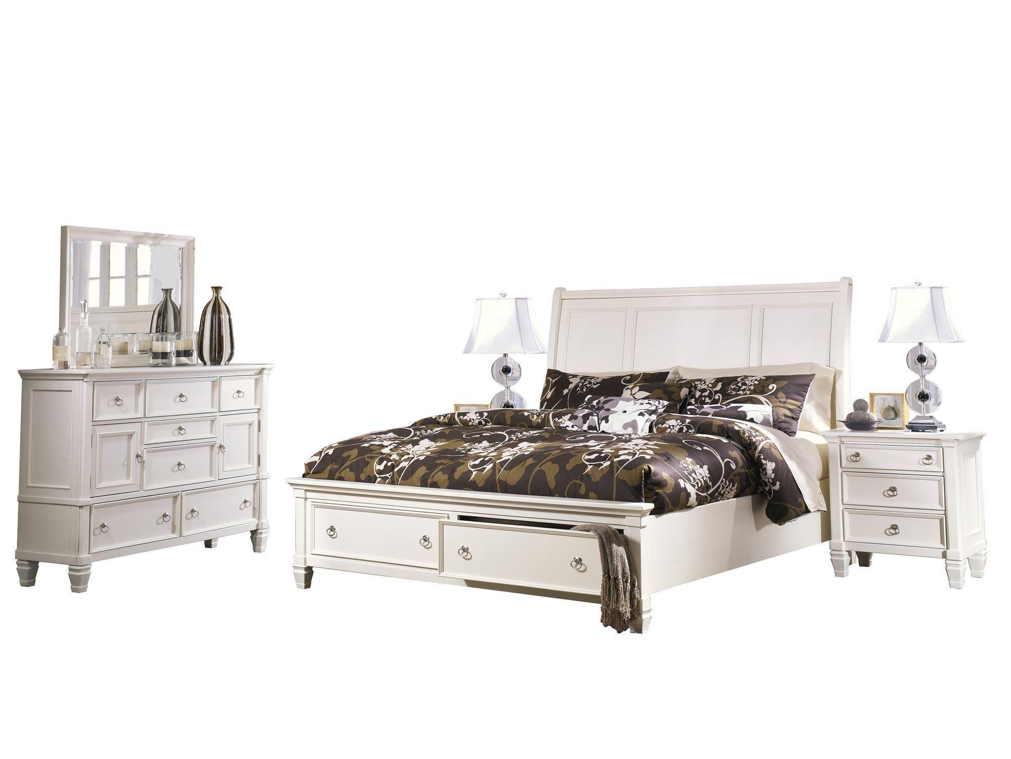Best Ashley Prentice 5Pc Bedroom Set Queen Sleigh Bed Dresser 400 x 300