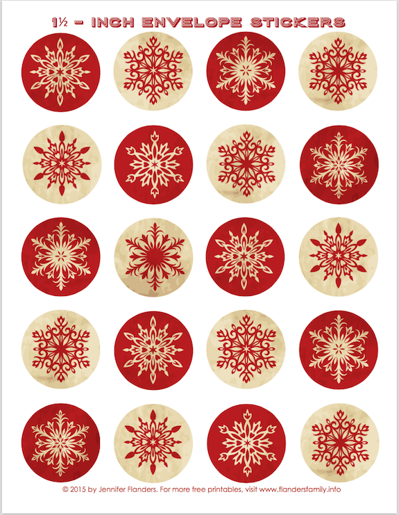 Free Printable Envelope Seals For Christmas Lots Of