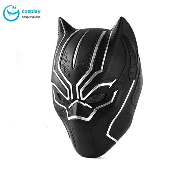 2018 New Black Panther Helmet Cosplay T/'Challa Mask Halloween Party Helmet Prop