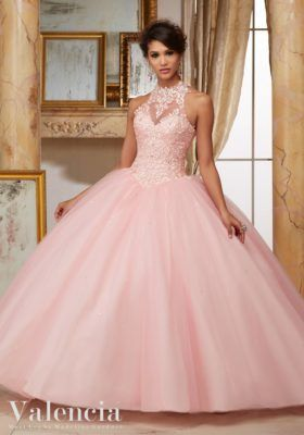 270652c81dc Embroidery and Beading on Tulle Ball Gown Quinceañera Dress in 2018 ...