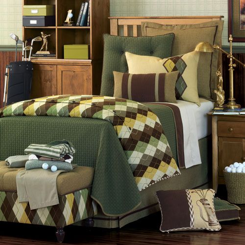 Palmer Bedding | Boys room decor, Golf room, Kids room design