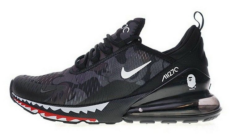 outlet store 31683 0cf3a A Bathing APE x Nike Air Max 270 Japanese Camo Bape Camo Black Grey AH6799  012