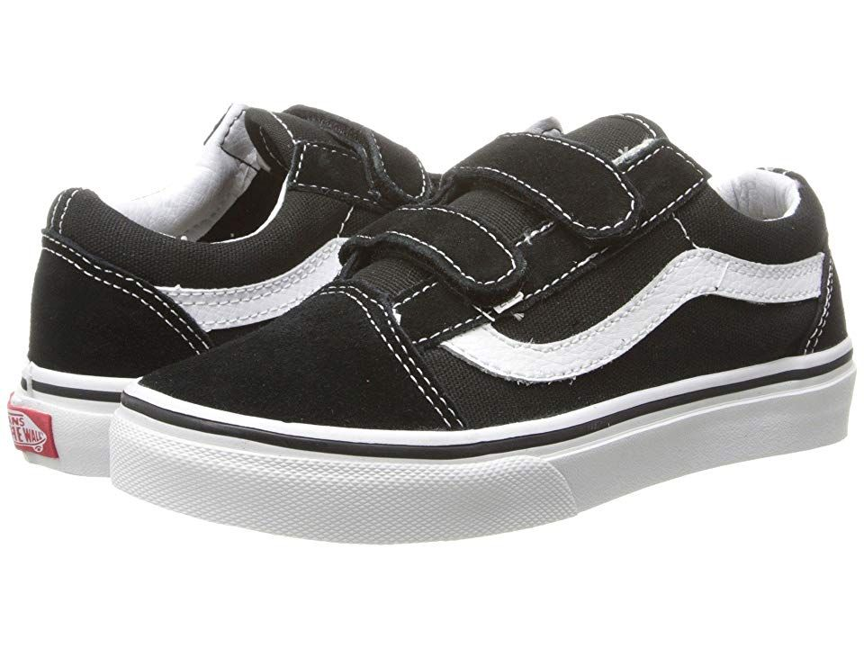 Vans Kids Old Skool V (Little KidBig Kid) Boys Shoes Black
