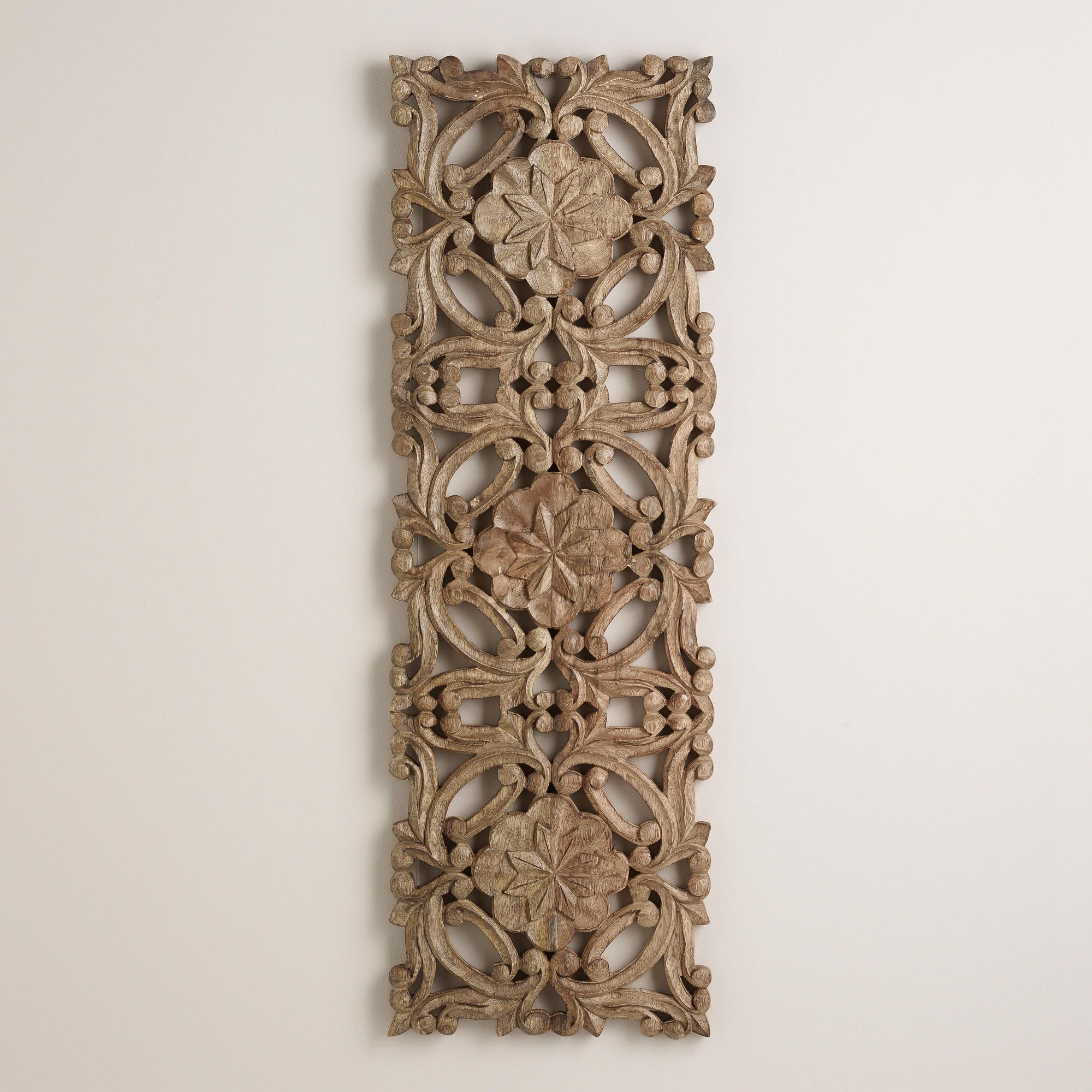 Carved Wood Wall Art Decor Stunning Antiqued Carved Wood Wall Decor  Wood Walls Wall Decor And Woods Inspiration