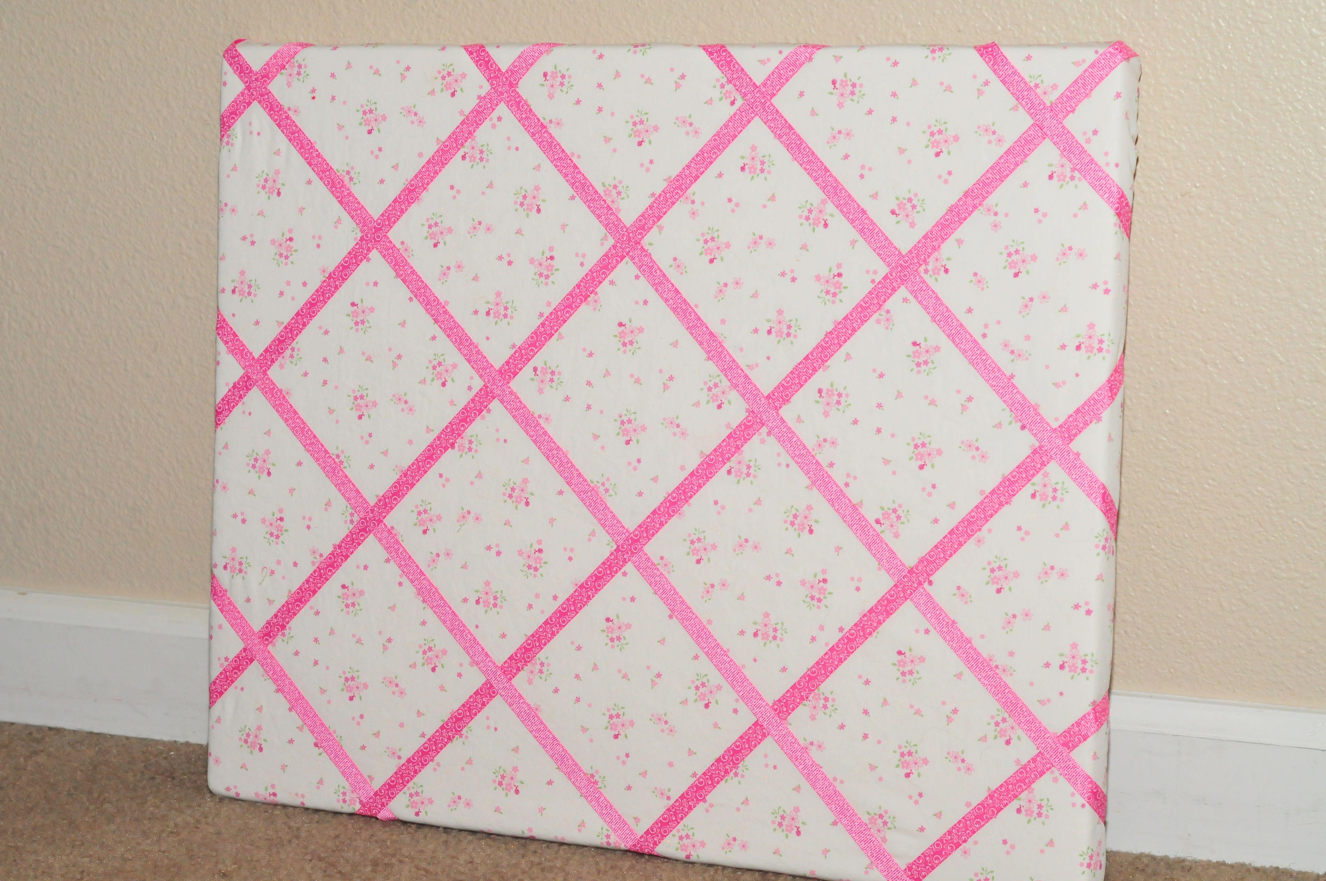 How To Make A Ribbon Memo Board Sippy Cup Mom Diy Memo Board