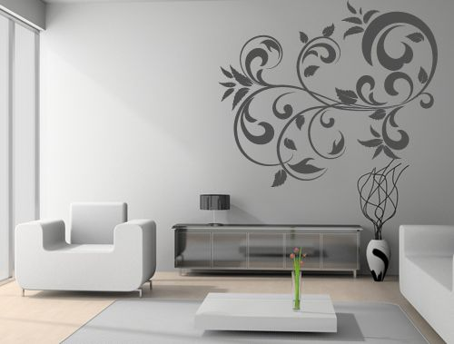 Abstract Wall Decals Abstract Floral Wall Decal Sticker In Vinyl - Vinyl wall decals abstract