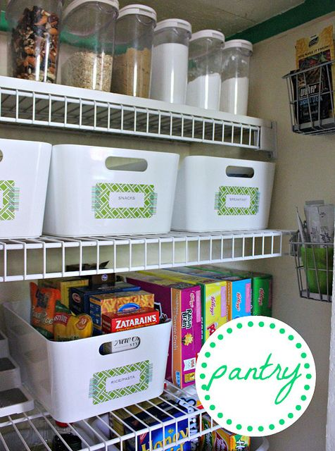 Small Pantry Still Manages To Stay Organized Love This Using Target Ikea And Container Store Containers Deep Pantry Organization Ikea Basket Deep Pantry