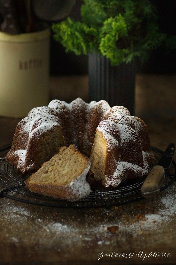 Photo of Simple, quick and delicious: juicy speculoos ring cake with apple