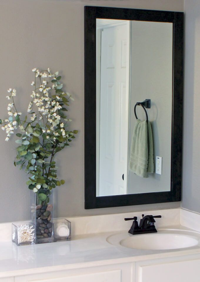 How To Frame Bathroom Mirrors With Images Bathroom Mirror