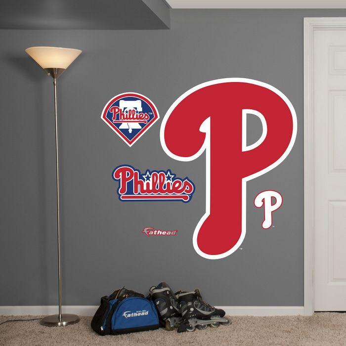 MLB Philadelphia Phillies P RealBig Logo Fathead Wall Graphic
