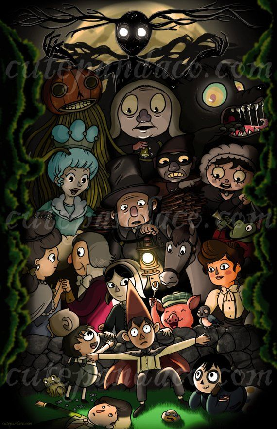 Over the Garden Wall All Character Print Over the garden