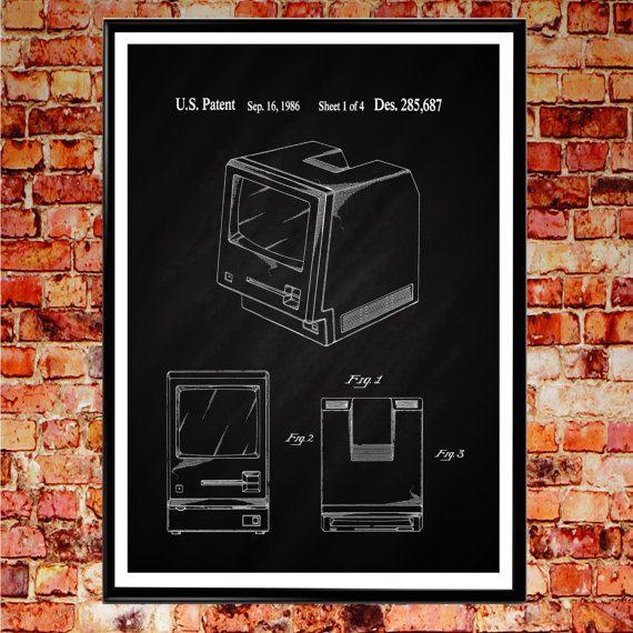 Apple Computer Mac Patent Print 1986 First Macintosh