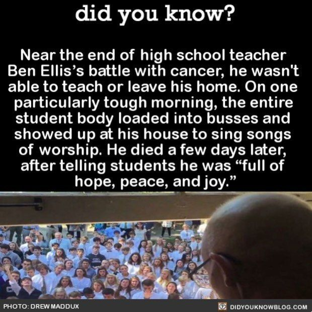 Heartwarming #awesome #love #teachers #cancer #cancersucks Share the helpful knowledge! Tag your friends in the comments. We post different…