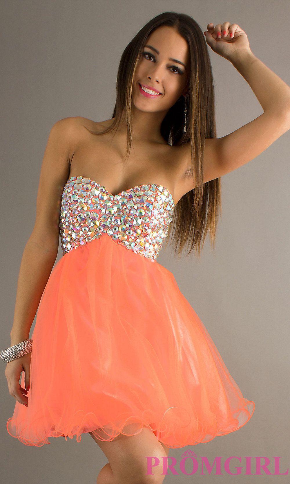 Coral Short Homecoming Dresses