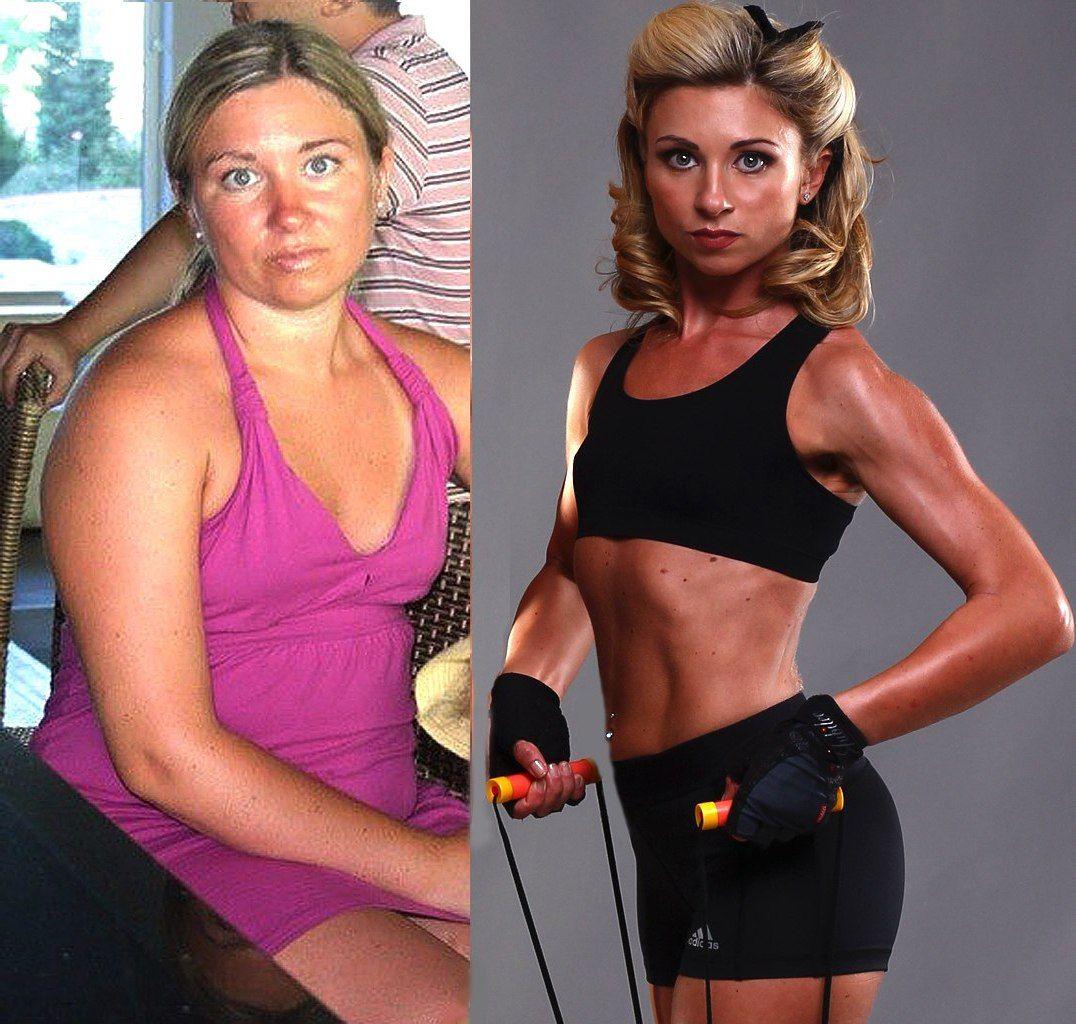 Примеры похудения в спортзале