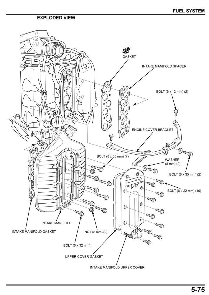 amazon.com : honda bf250 marine outboard service shop ... honda bf50 wiring diagram coils for honda cb750 wiring diagram