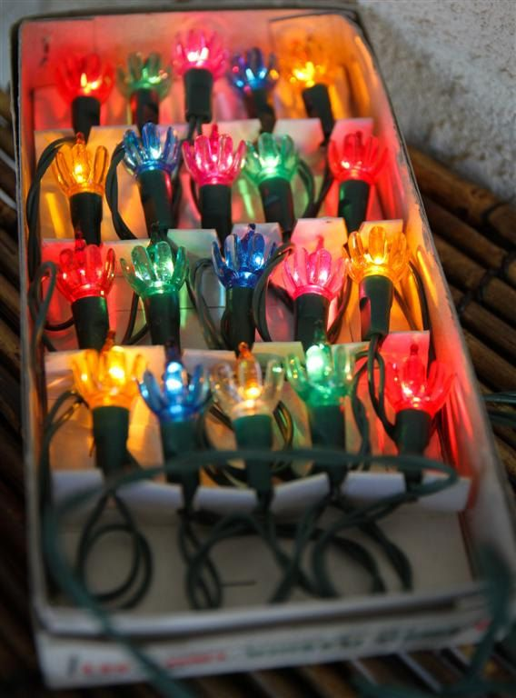 Vintage Flower Christmas Lights - Excellent Condition - Original Box ...