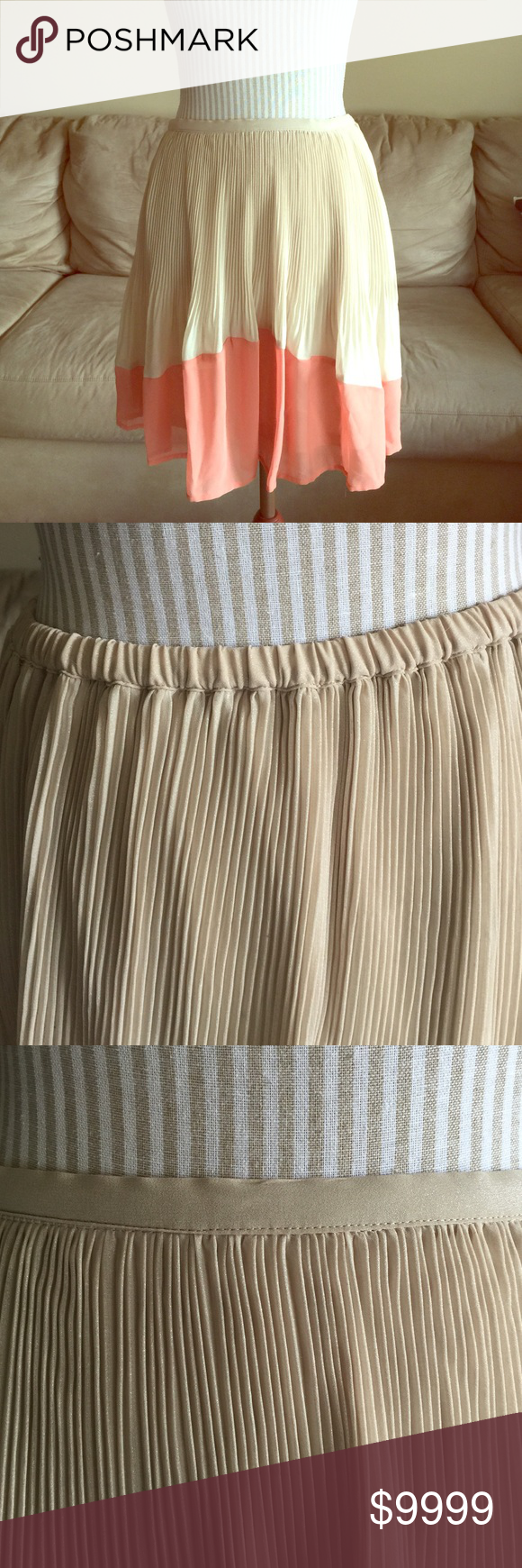 LC Lined Flowy Shimmer Skirt DETAILS COMING SOON! LC Lauren Conrad Skirts Circle & Skater