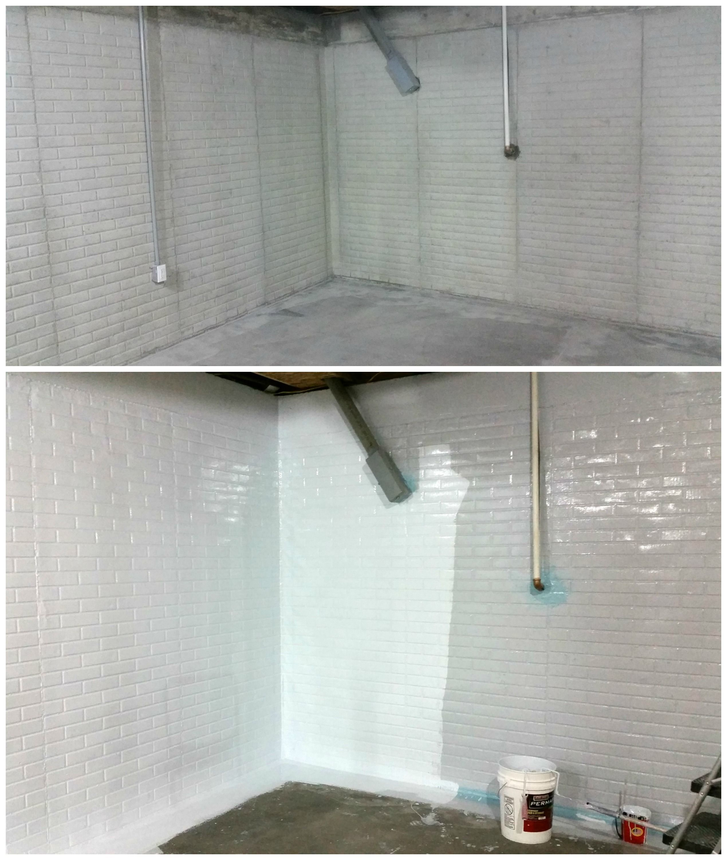 Superior Sani Tred Basement Waterproofing Reviews Part - 14: DIY Basement Waterproofing. Before U0026 After (almost). PermaFlex, The Most  Effective